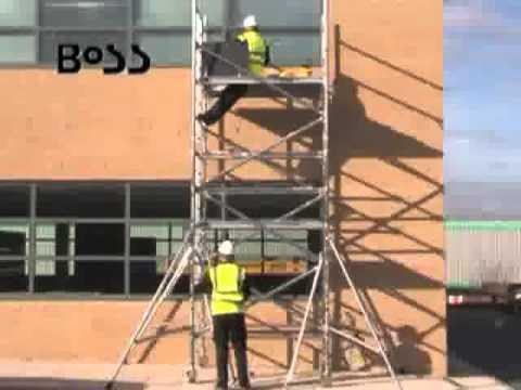 Como montar uma torre de andaimes tubulares com segurança