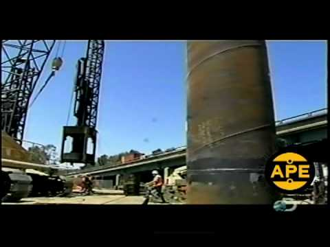 Discovery Channel - APE D180 Diesel Hammer on Highway 880 Oakland California