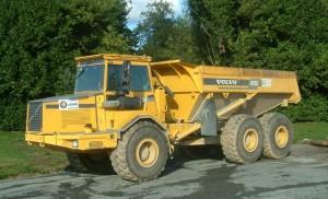Exemplo de um camião dumper