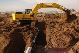 Exemplo de uma escavadeira hidraulica