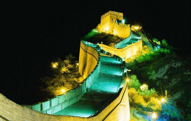 Muralha da China de noite